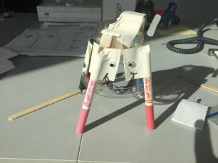 Tada! My funky art bot... Isn't she cute?